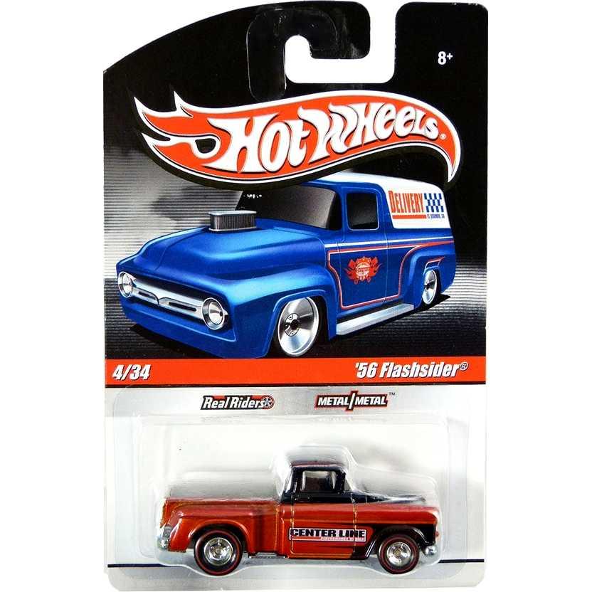2009 Hot Wheels 56 Flashsider Delivery Truck: Pickup Marta Rocha escala 1/64 R3730