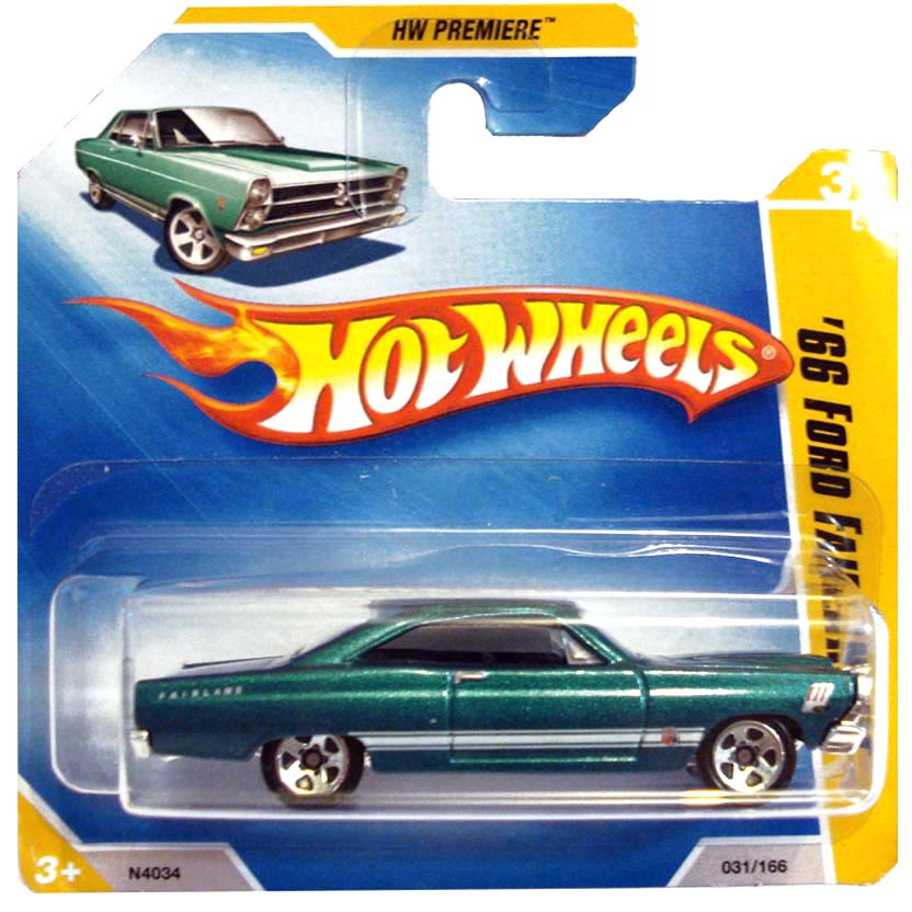 2009 Hot Wheels 66 Ford Fairline GT N4034 series 31/42 031/166