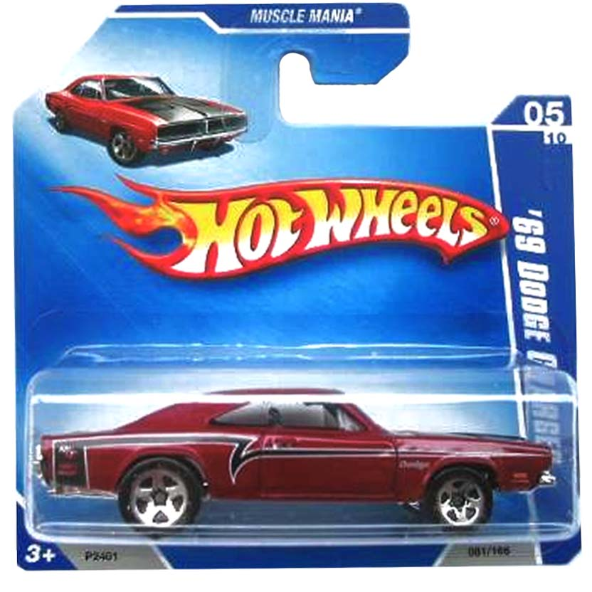 2009 Hot WHeels 69 Dodge Charger P2401 series 05/10 081/166