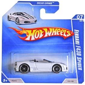 2009 Hot Wheels Ferrari F430 Spider P2473 series 07/10 153/166