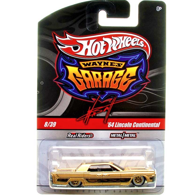 2009 Hot Wheels Waynes Garage 64 Lincoln Continental ouro 8/39 T0402 escala 1/64