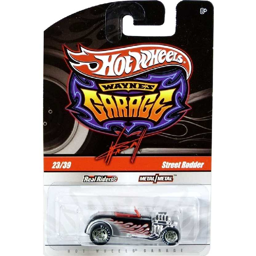 2009 Hot Wheels Waynes Garage Street Rodder 23/39 R3779 escala 1/64 pneus de borracha