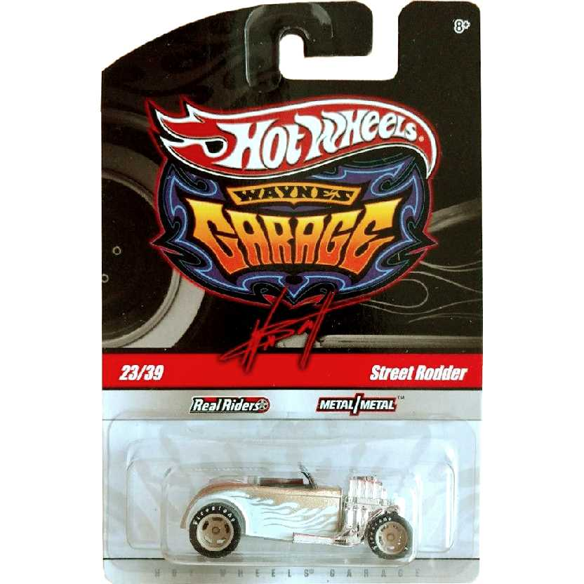 2009 Hot Wheels Waynes Garage Street Rodder (ouro) 23/39 R3779 escala 1/64 pneus de borracha