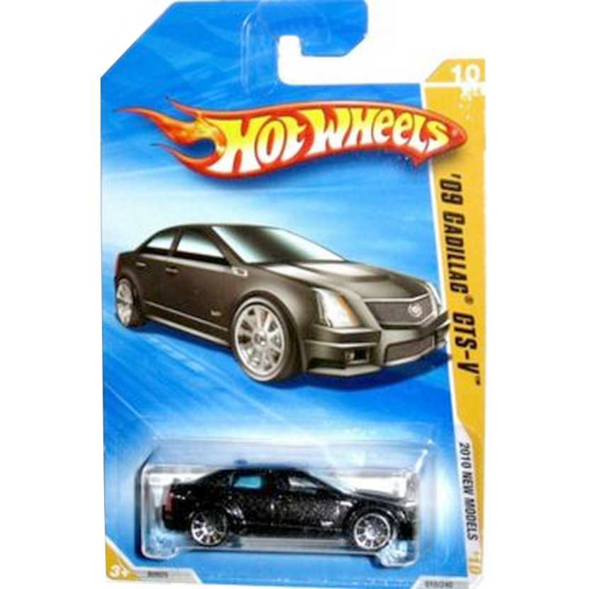2010 Hot Wheels 09 Cadillac CTS-V preto R0925 series 10/44 010/240 escala 1/64