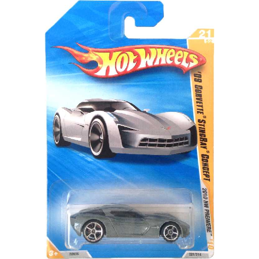 2010 Hot Wheels 09 Corvette Stingray Concept series 21/52 021/214 R0936 escala 1/64