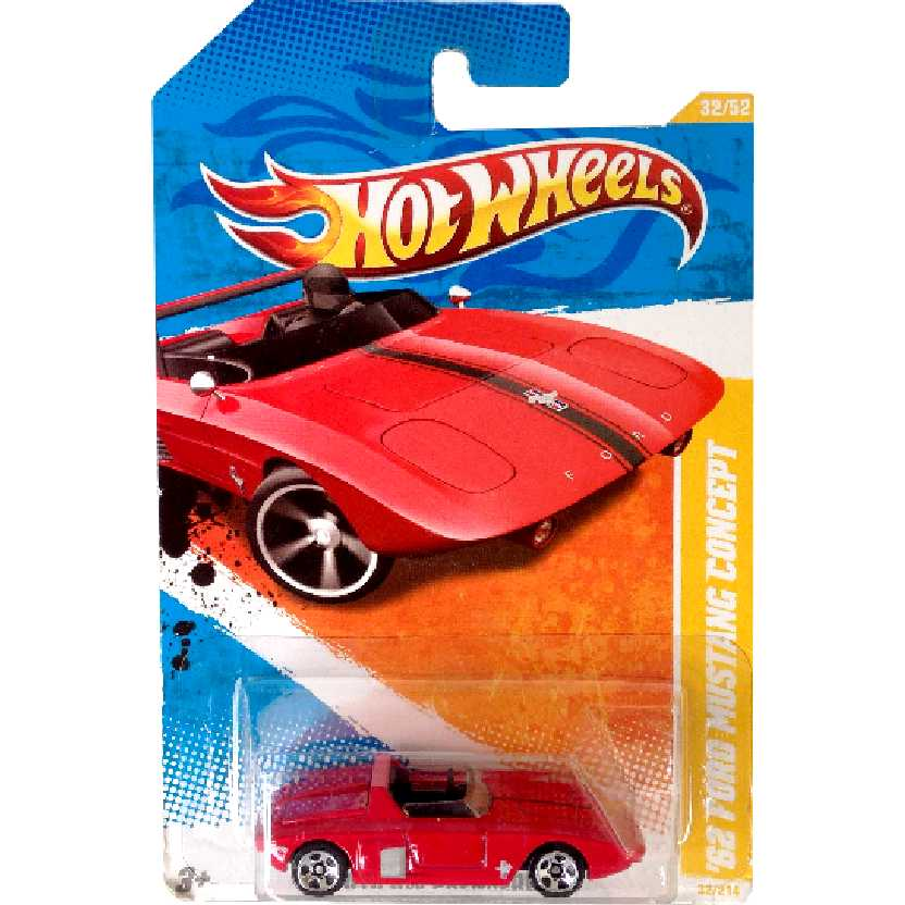 2010 Hot Wheels 62 Ford Mustang Concept vermelho series 32/52 32/214 R0947 escala 1/64