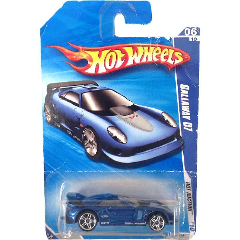 2010 Hot Wheels Callaway C7 azul R7589 series 06/10 162/214 escala 1/64