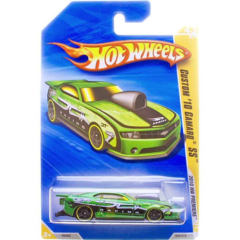 2010 Hot Wheels Custom 10 Camaro SS verde R6450 series 43/52 043/214 escala 1/64