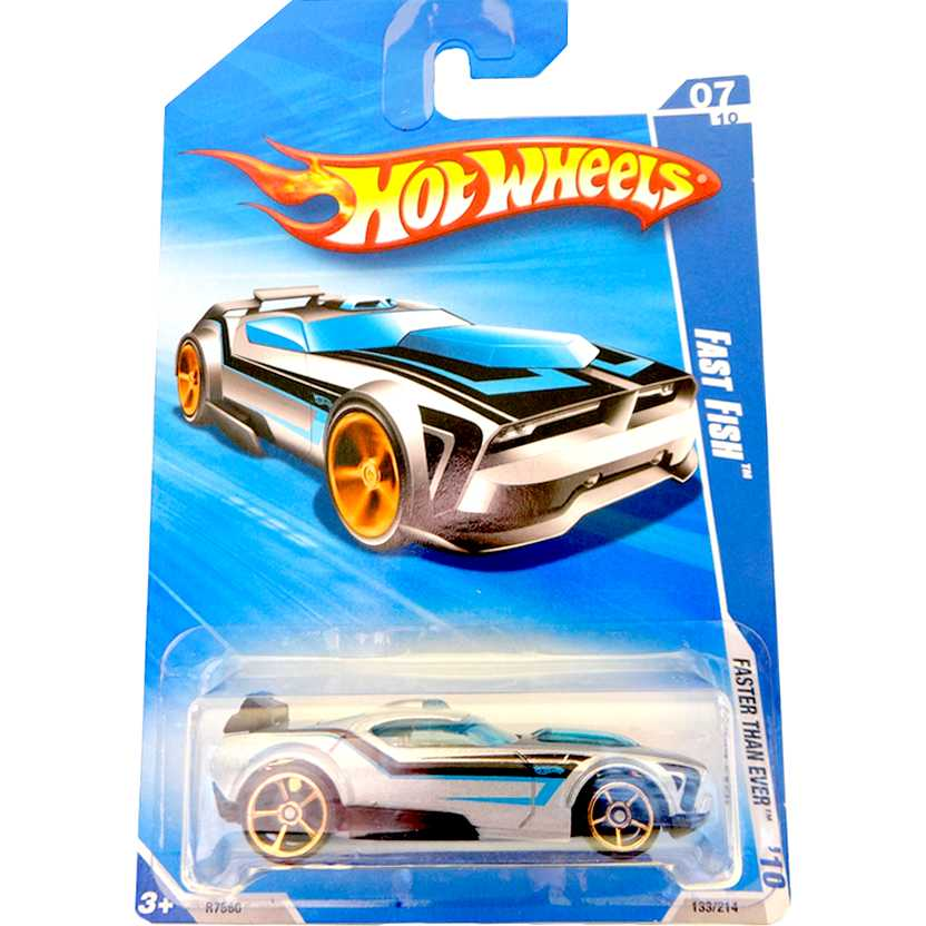 2010 Hot Wheels Fast Fish prata R7560 series 133/214 escala 1/64