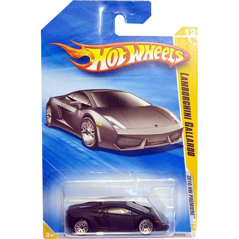 2010 Hot Wheels Lamborghini Gallardo LP-560-4 preto fosco R0927 series 012/214 escala 1/64