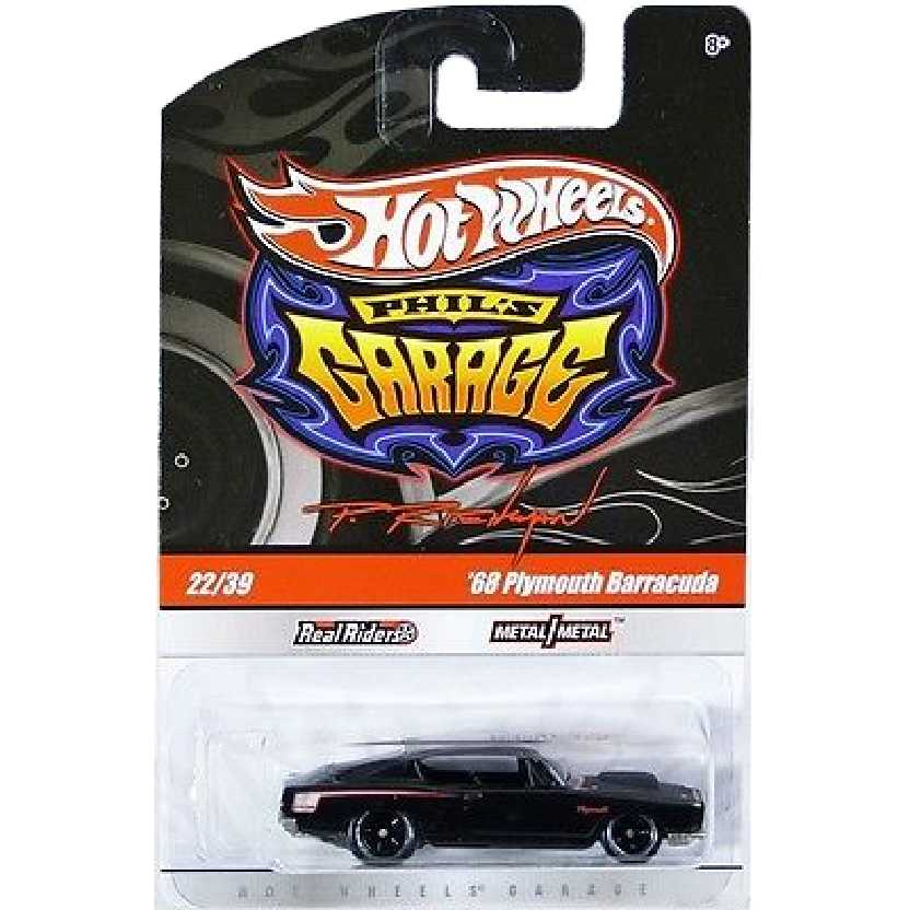 2010 Hot Wheels Phills Garage 68 Plymouth Barracuda preto series 22/39 R3763 escala 1/64