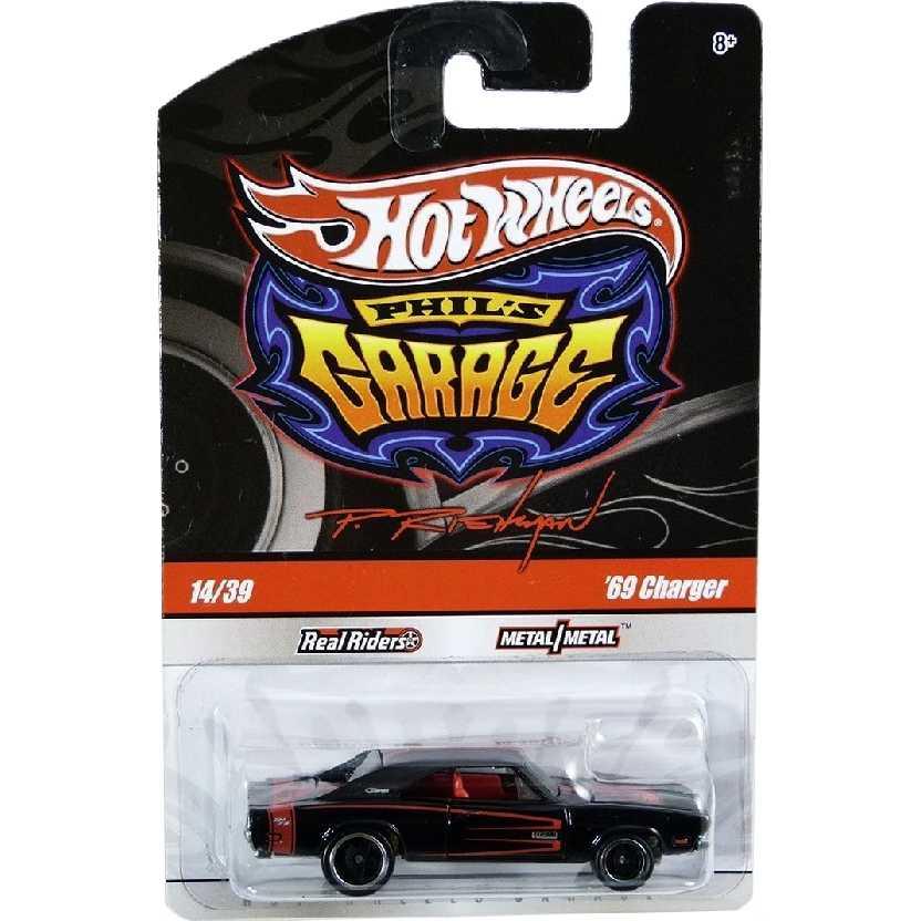 2010 Hot Wheels Phills Garage 69 Dodge Charger preto series 14/39 R3778 escala 1/64