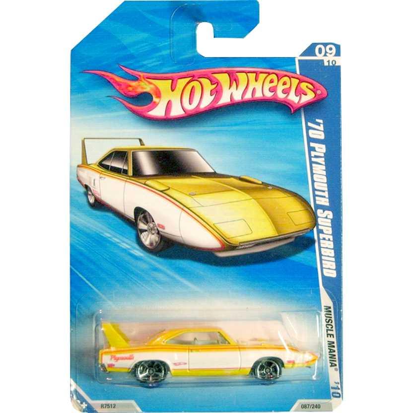 2010 Hot Wheels Poster 70 Plymouth Superbird amarelo R7512 series 09/10 087/240 RARO