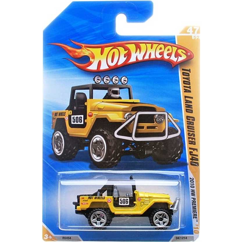 2010 Hot Wheels Toyota Land Cruiser FJ40 amarelo R6454 series 047/214 escala 1/64