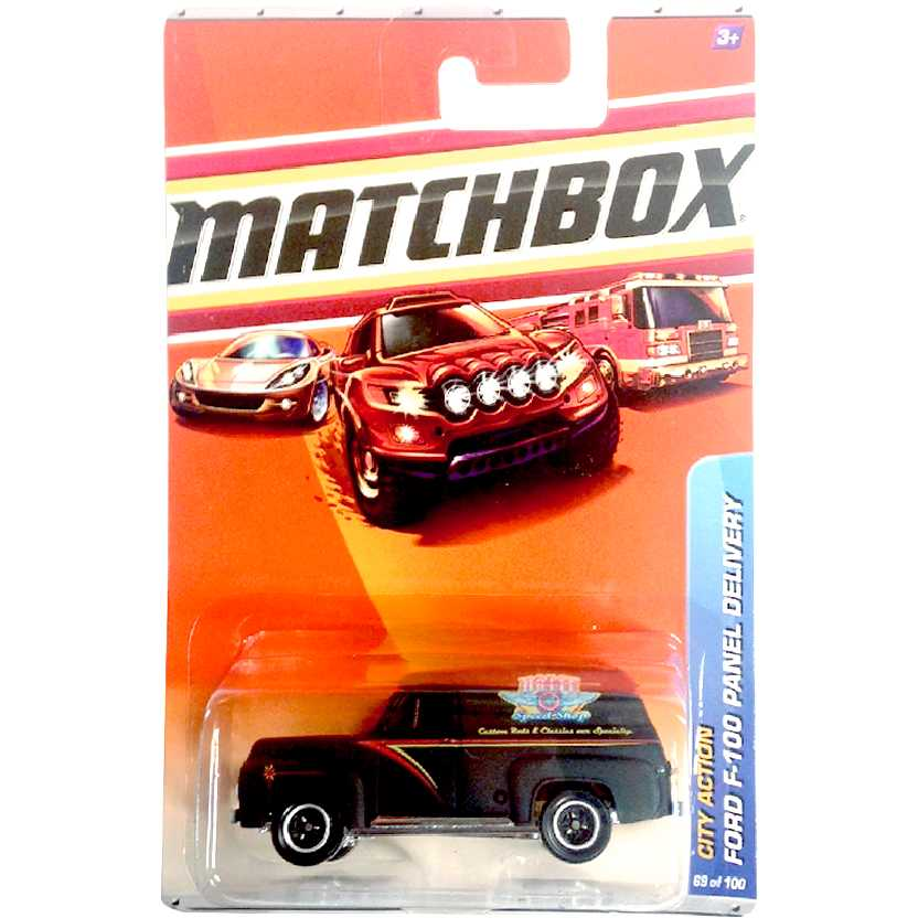 2010 Matchbox 1955 Ford F-100 Panel Delivery Holst Speed Shop 69/100 R4990 escala 1/64