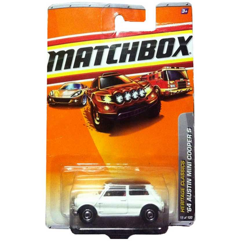 2010 Matchbox 1964 Austin Mini Cooper S escala 1/64 series 19/100 R4947