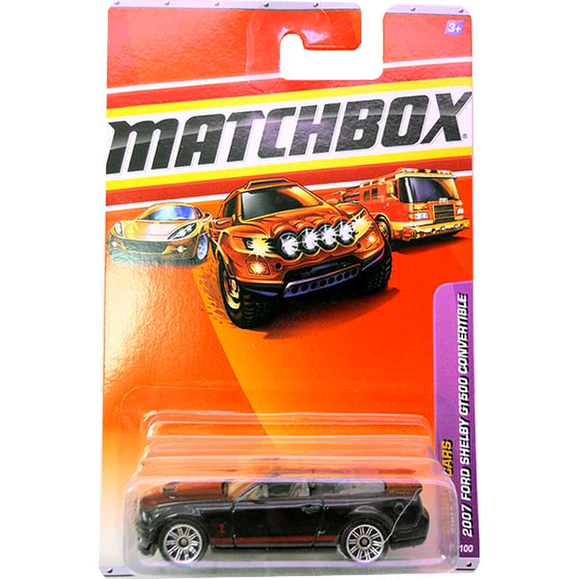 2010 Matchbox 2007 Ford Shelby GT500 Convertible escala 1/64 7 of 100 R4958