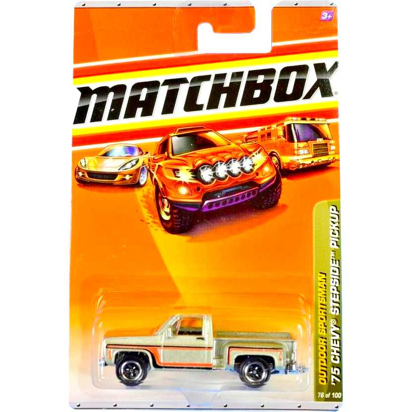 2010 Matchbox 75 Chevy Stepside Pickup escala 1/64 76 of 100 R5000