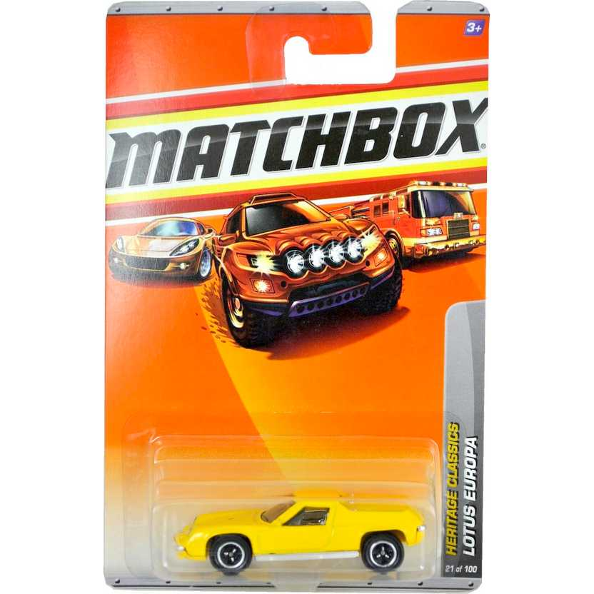 2010 Matchbox Lotus Europa Heritage Classics escala 1/64 21 of 100 R4951