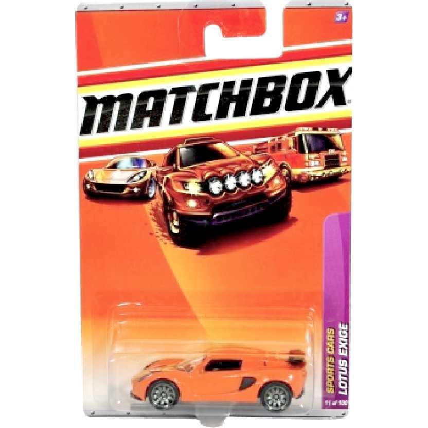 2010 Matchbox Lotus Exige laranja escala 1/64 R4962 series 11/100