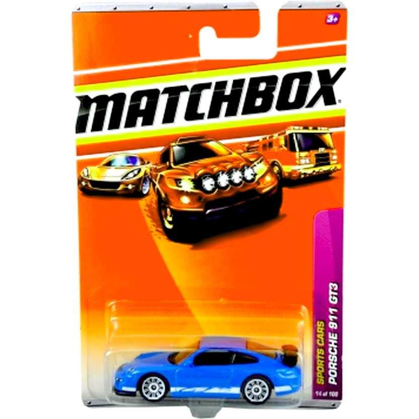 2010 Matchbox Porsche 911 GT3 azul escala 1/64 14 of 100 R4969 similar do filme Fast Five