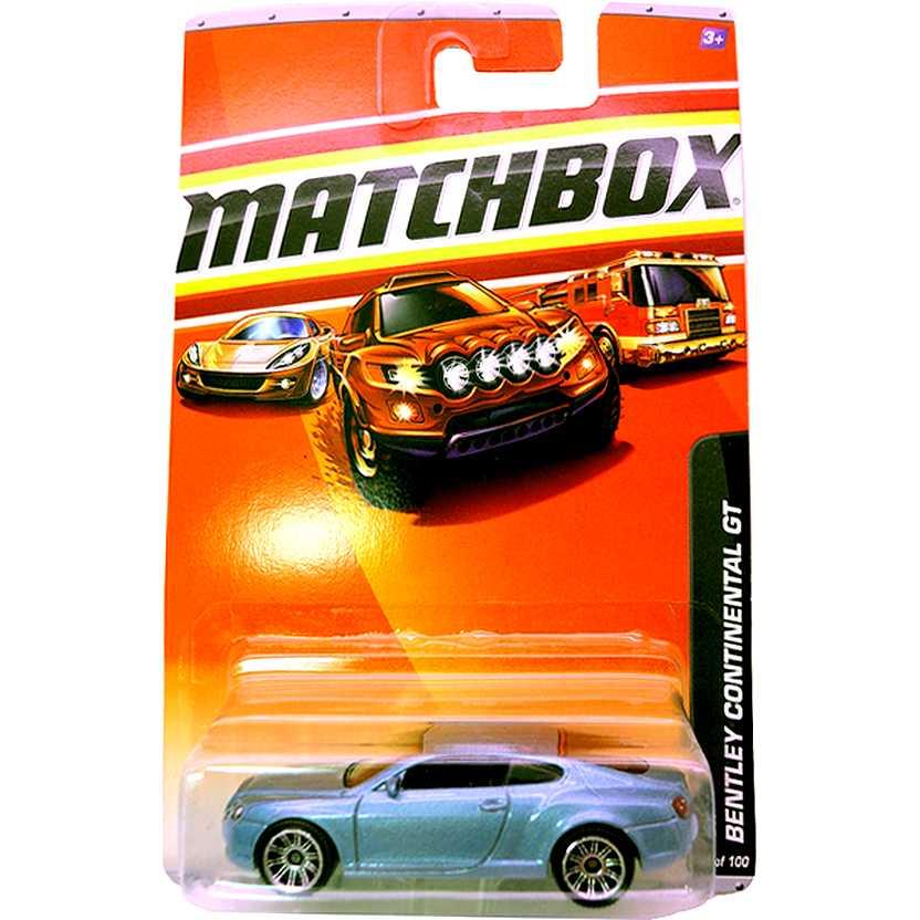 2010 Matchbox VIP Bentley Continental GT escala 1/64 36 of 100 R4974 RARÍSSIMO