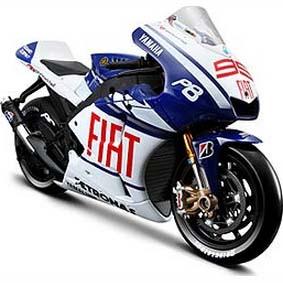 2010 Motos Maisto Miniatura 1/10 Yamaha MotoGP Jorge Lorenzo 99
