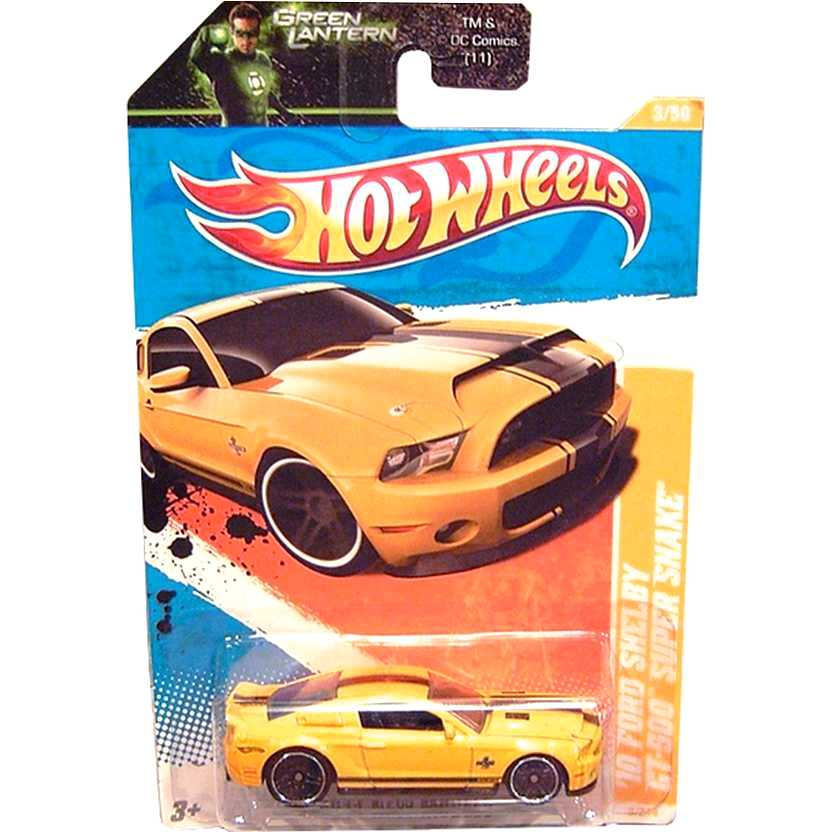 2011 Hot Wheels 10 Ford Shelby GT-500 Super Snake amarelo T9994 3/50 3/244 escala 1/64