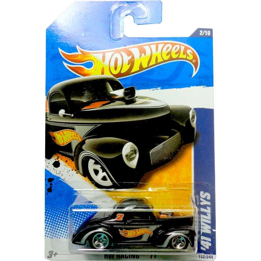 2011 Hot Wheels 41 Willys preto V0031 series 2/10 152/244 escala 1/64
