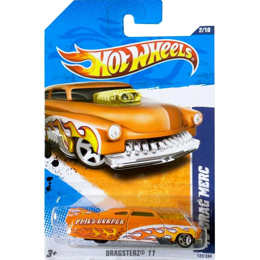 2011 Hot Wheels 49 Drag Merc laranja T9829 series 2/10 122/244 escala 1/64