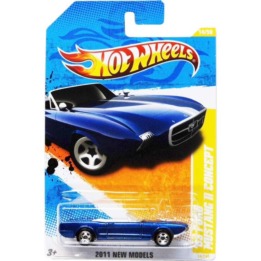 2011 Hot Wheels 63 Ford Mustang II Concept azul T9969 series 14/244 escala 1/64