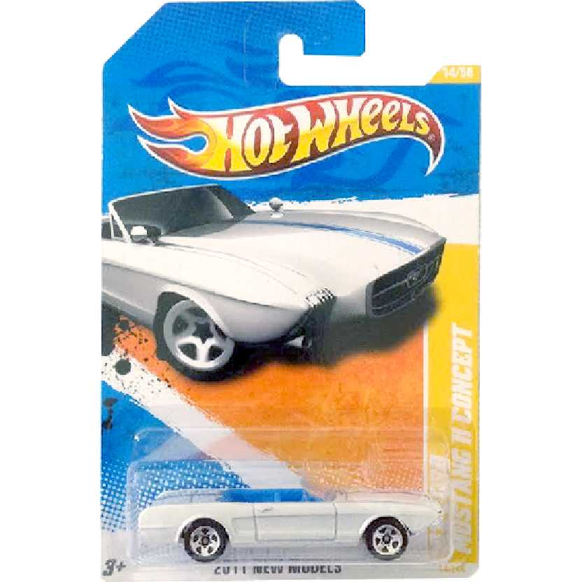 2011 Hot Wheels 63 Ford Mustang II Concept branco T9684 series 14/50 14/244 escala 1/64