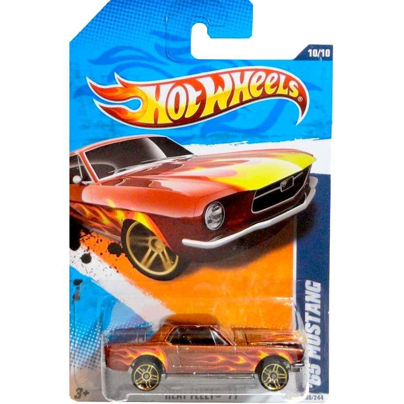 2011 Hot Wheels 65 Mustang vermelho T9807 series 100/244 escala 1/64
