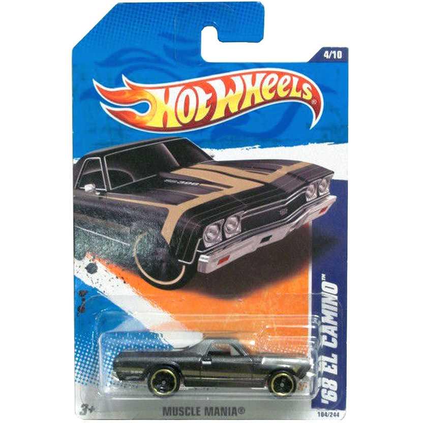 2011 Hot Wheels 68 Pickup El Camino T9811 series 4/10 104/244 escala 1/64