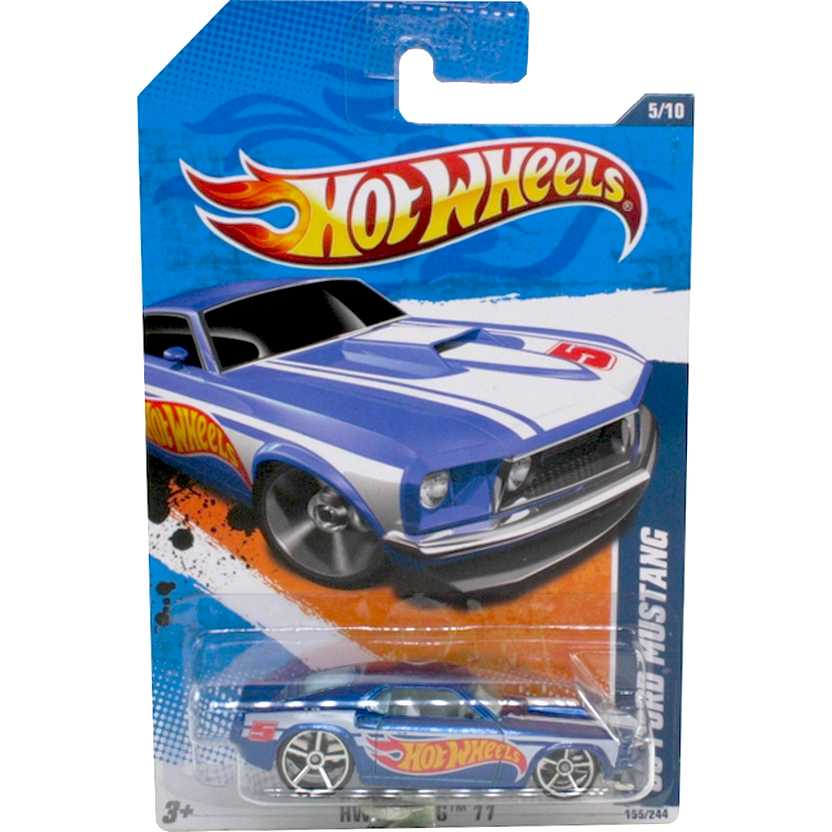 2011 Hot Wheels 69 Ford Mustang T9862 series 5/10 155/244 escala 1/64