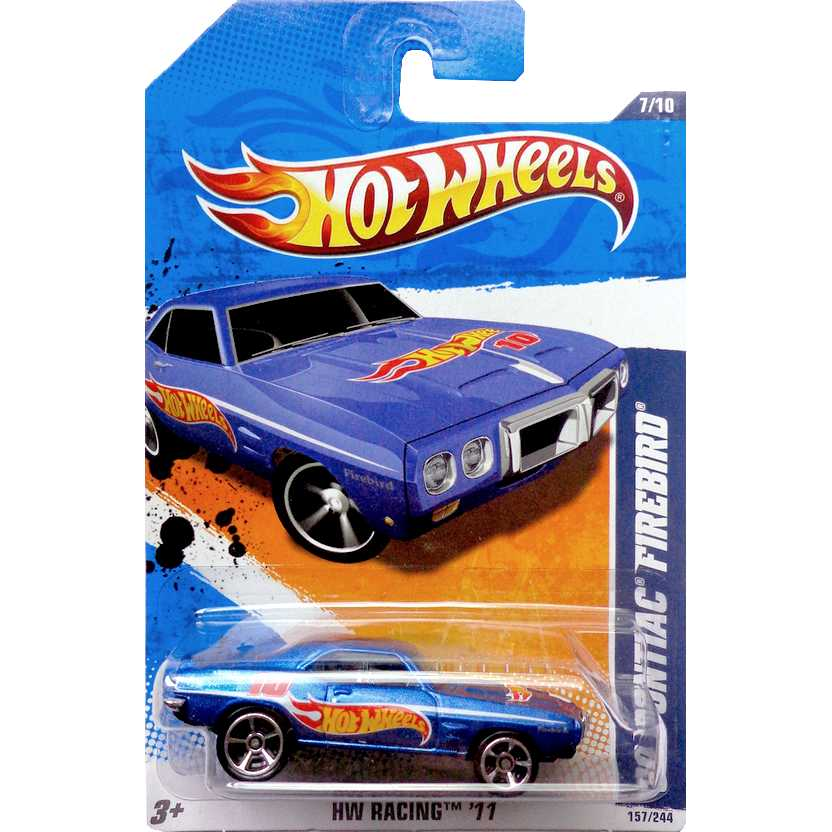 2011 Hot Wheels 69 Pontiac Firebird azul T9864 series 7/10 157/244 escala 1/64
