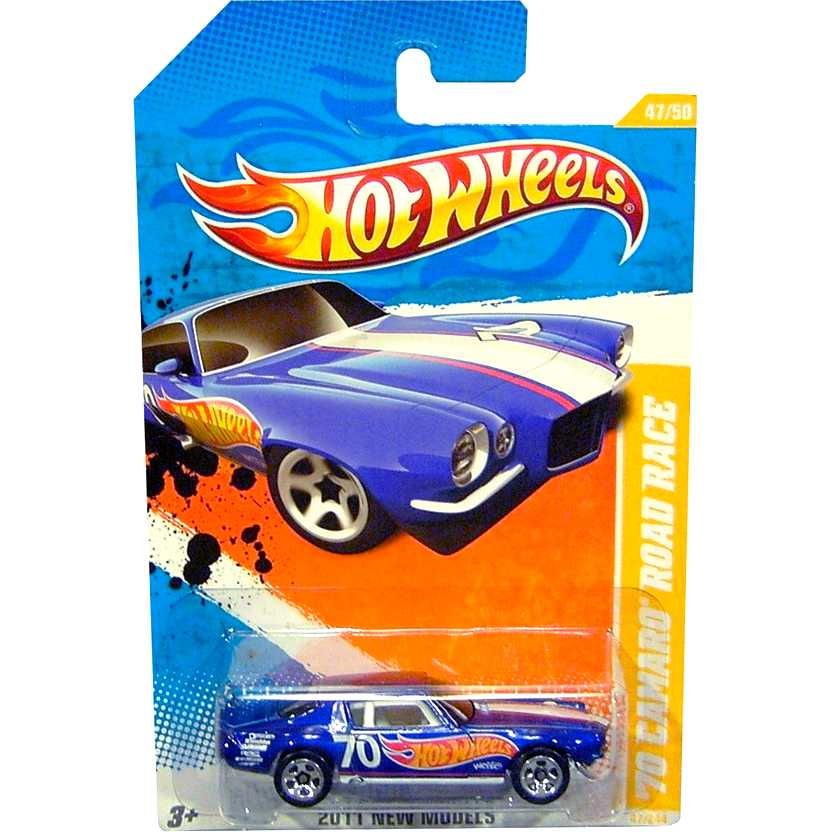 2011 Hot Wheels 70 Camaro Z28 Road Race azul T9717 series 47/50 47/244 escala 1/64