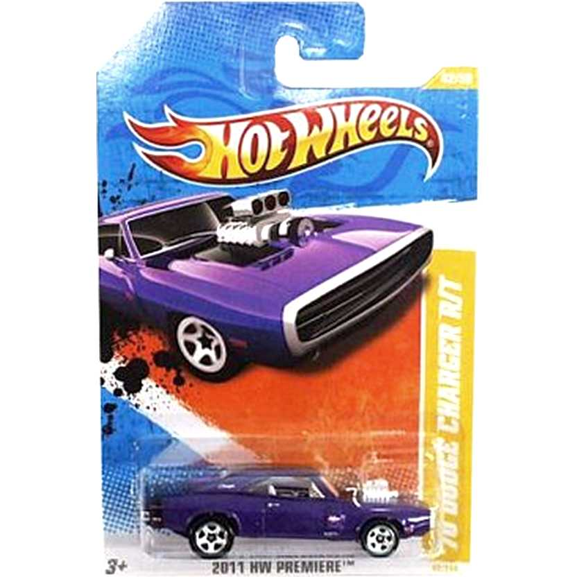 2011 Hot Wheels 70 Dodge Charger R/T roxo T9712 series 42/50 42/244 escala 1/64