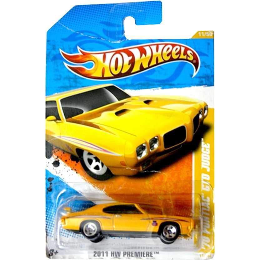 2011 Hot Wheels 70 Pontiac GTO Judge T9681 series 11/50 11/244 escala 1/64