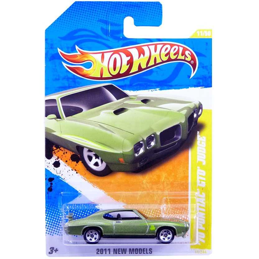 2011 Hot Wheels 70 Pontiac GTO Judge verde T9947 series 11/50 11/244 escala 1/64