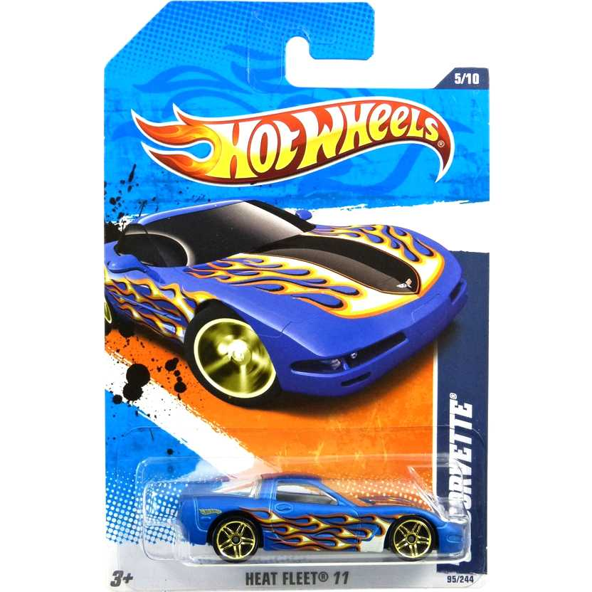 2011 Hot Wheels 97 Corvette azul T9949 series 95/244 escala 1/64