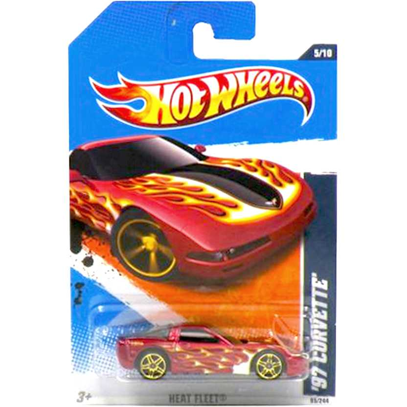 2011 Hot Wheels 97 Corvette vermelho T9802 series 95/244 escala 1/64