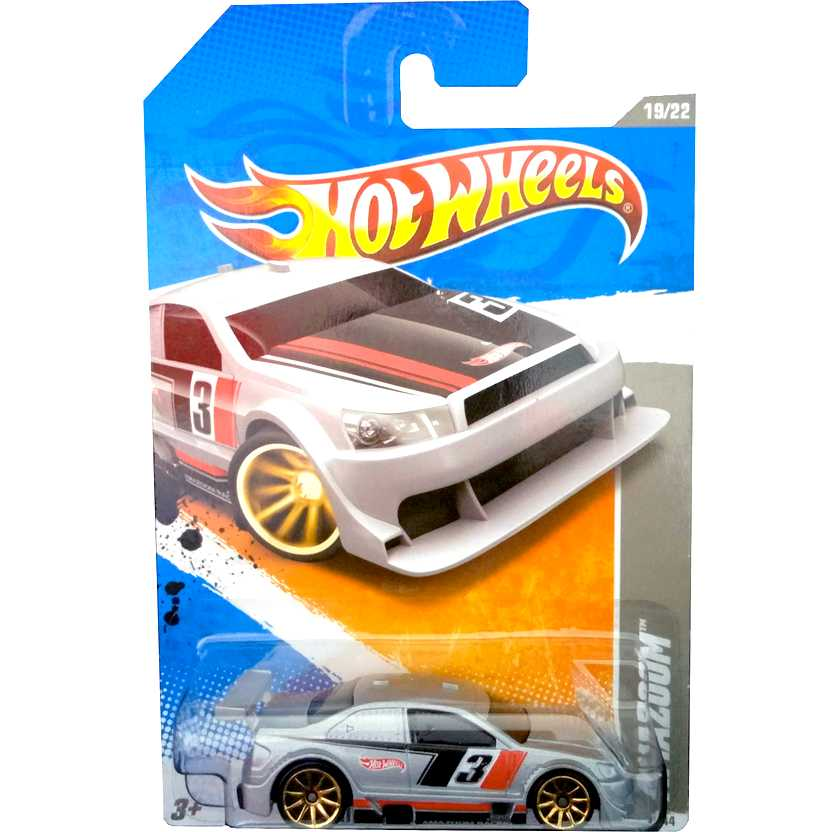 2011 Hot Wheels Amazoom prata T9784 series 19/22 241/244 escala 1/64