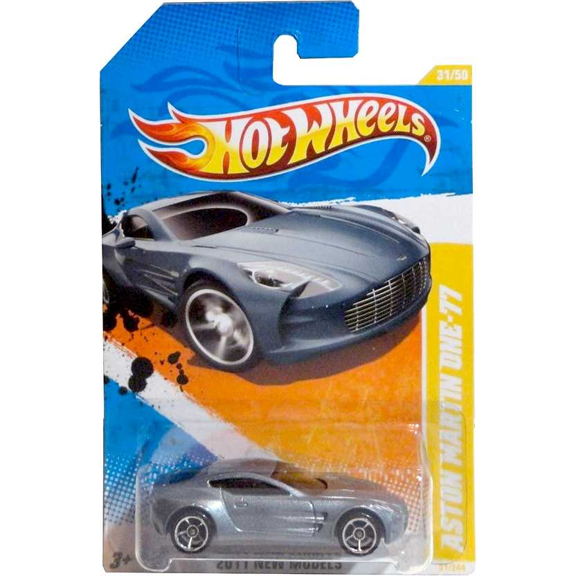 2011 Hot Wheels Aston Martin One-77 T9701 series 31/50 31/244 escala 1/64