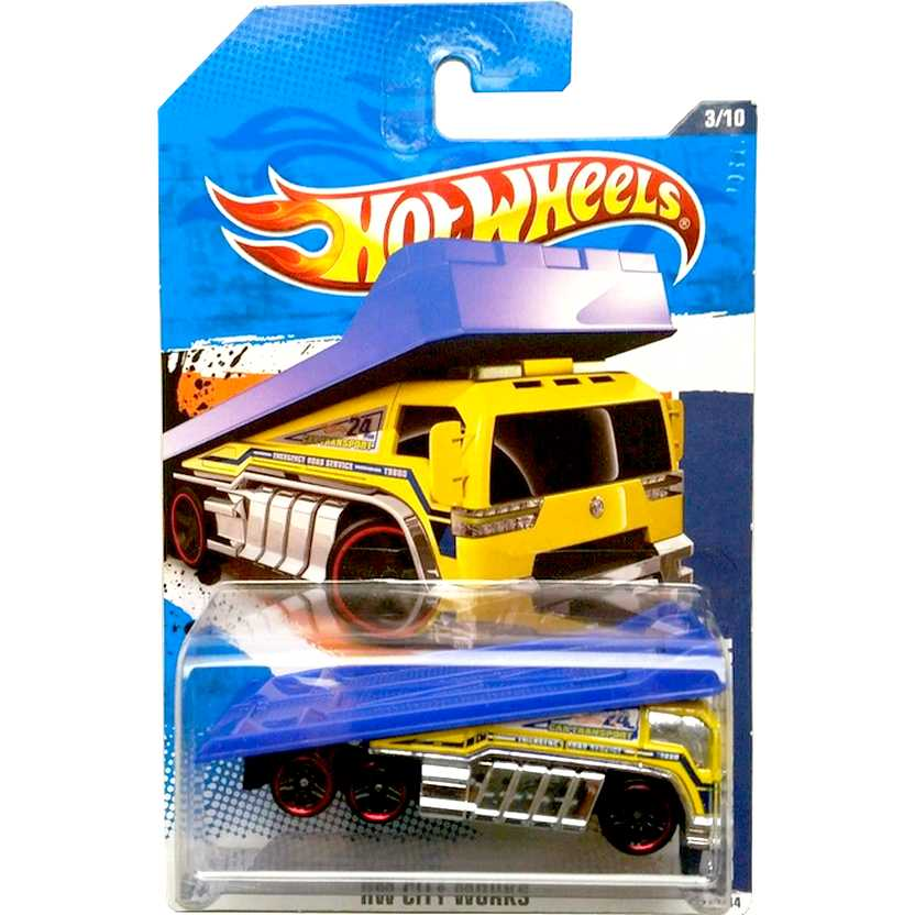 2011 Hot Wheels Back Slider Guincho amarelo T9880 series 3/10 173/244 escala 1/64