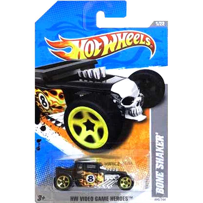 2011 Hot Wheels Bone Shaker preto T9766 series 1/22 223/244 escala 1/64