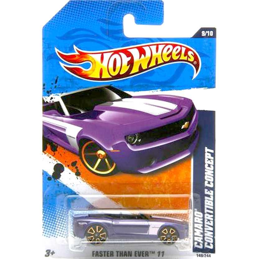 2011 Hot Wheels Camaro Convertible Concept roxo metálico V0063 series 149/244