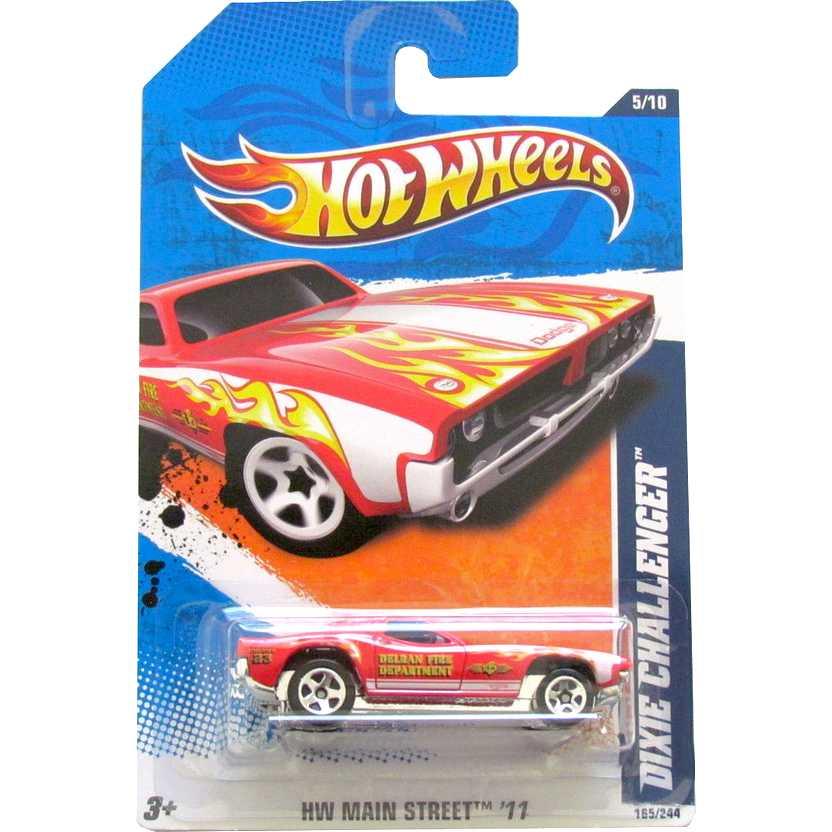 2011 Hot Wheels Dixie Challenger vermelho T9872 series 5/10 165/244 escala 1/64