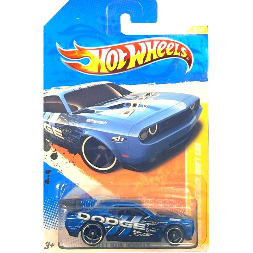 2011 Hot Wheels Dodge Challenger Drift Car azul T9934 series 6/244 escala 1/64