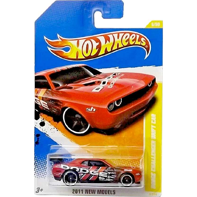2011 Hot Wheels Dodge Challenger Drift Car (laranja) 6/50 6/244 T9676 escala 1/64